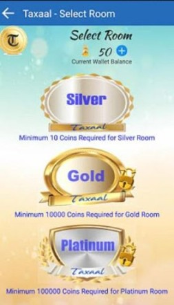 taxaal app select room
